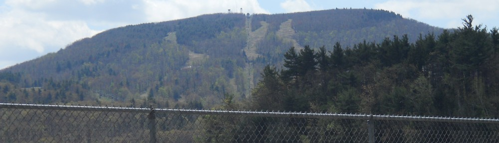 View of Wachusett Mountain from turn onto Mountain Road from Route 140 in Princeton, MA