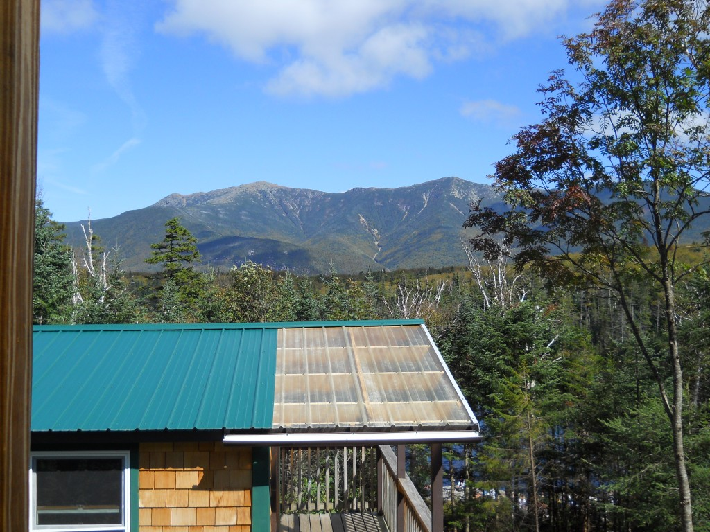 View of Franconia Notch from Lonesome Lake Hut