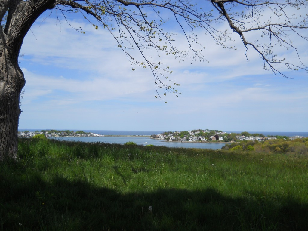 Hull and Nantasket Beach viewed from World's End Reservation.