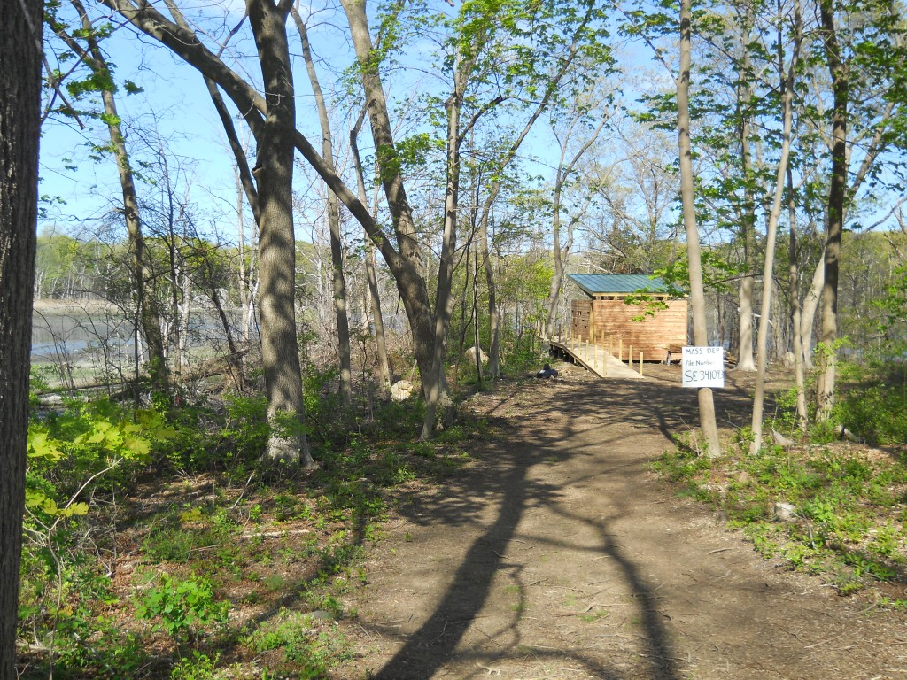 Bird Watching blind under construction at World's End Reservation in Hingham, MA