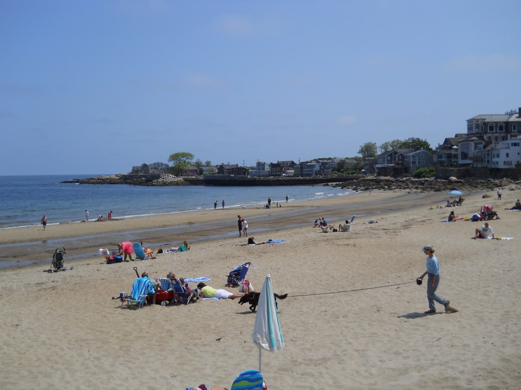 Front Beach in downtown Rockport, MA