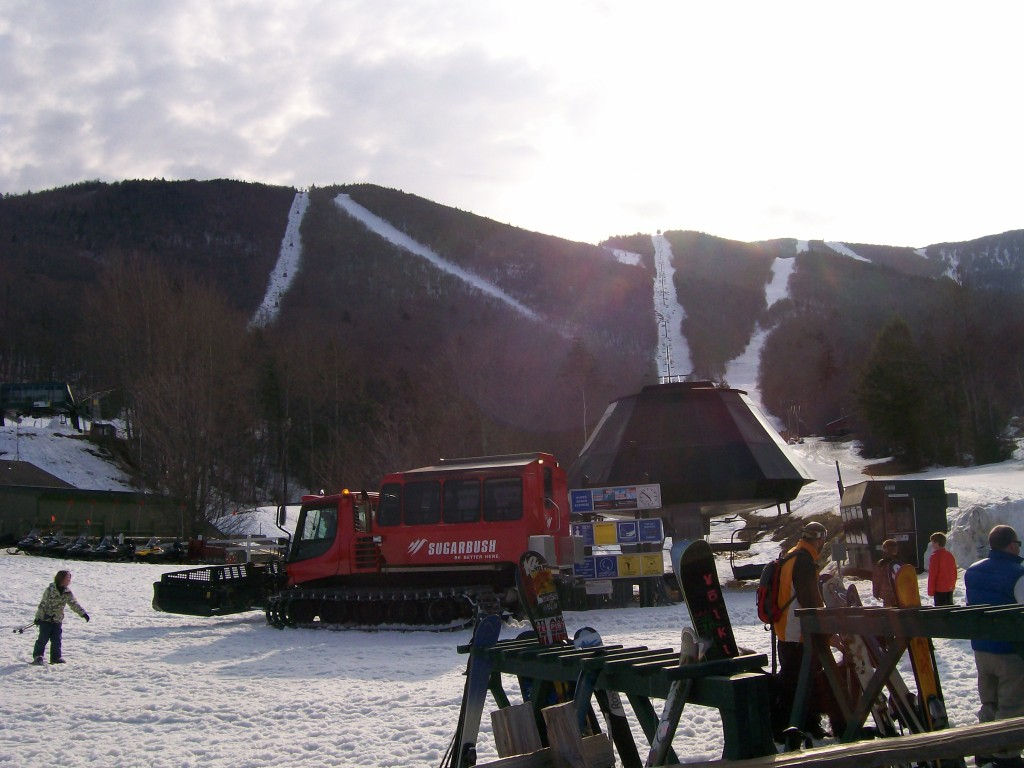 Sugarbush Resort after a day spring skiing