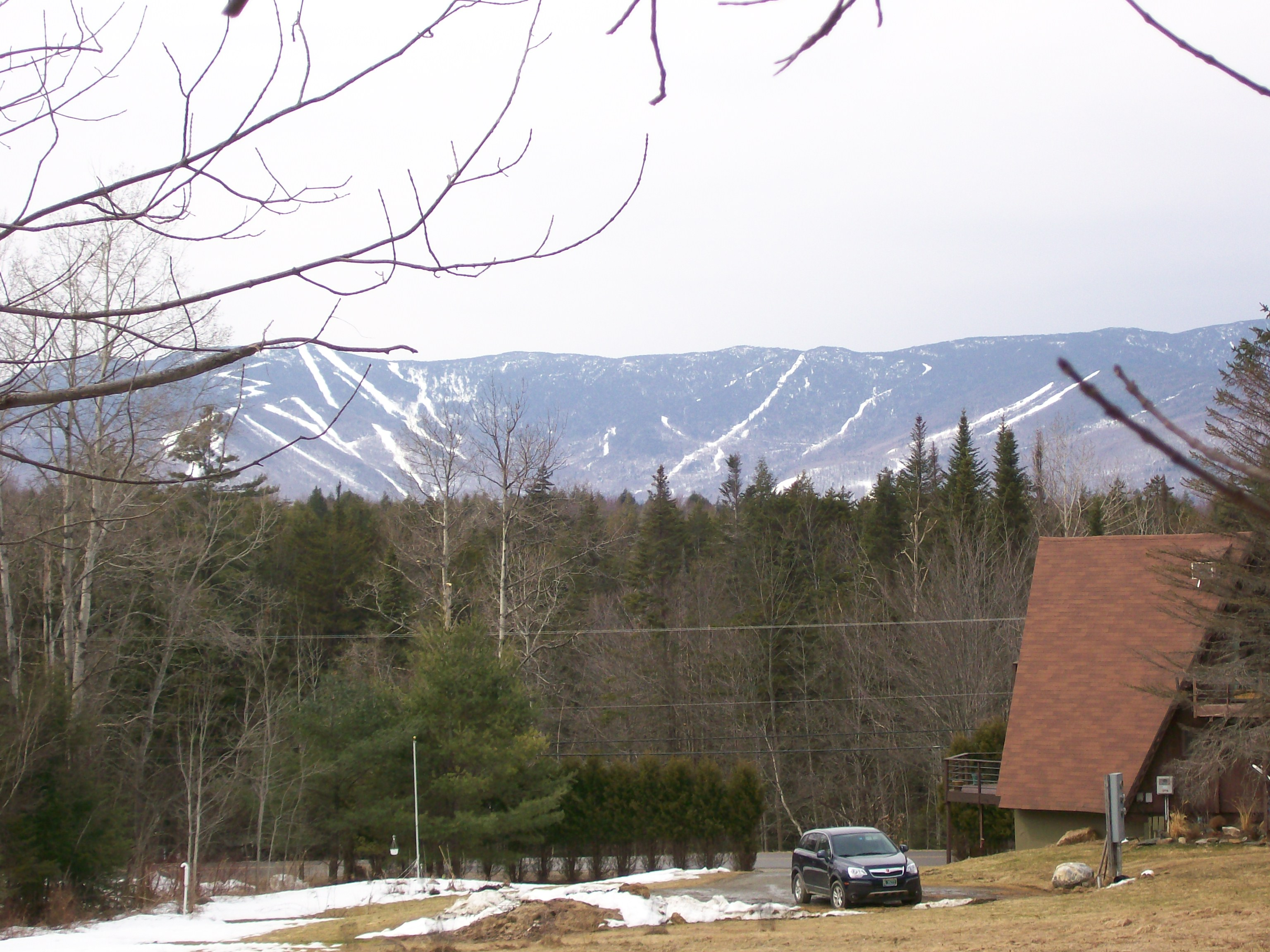 Sugarbush Resort from across the Mad River Valley.