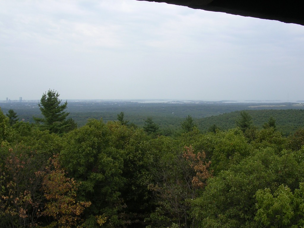 Northeast view from the CCC Tower atop Great Blue Hill.