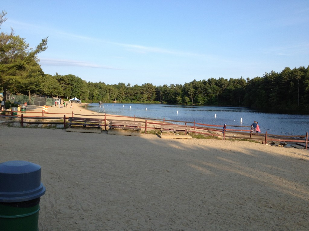 Houghton's Pond swimming area at Blue Hills Reservation