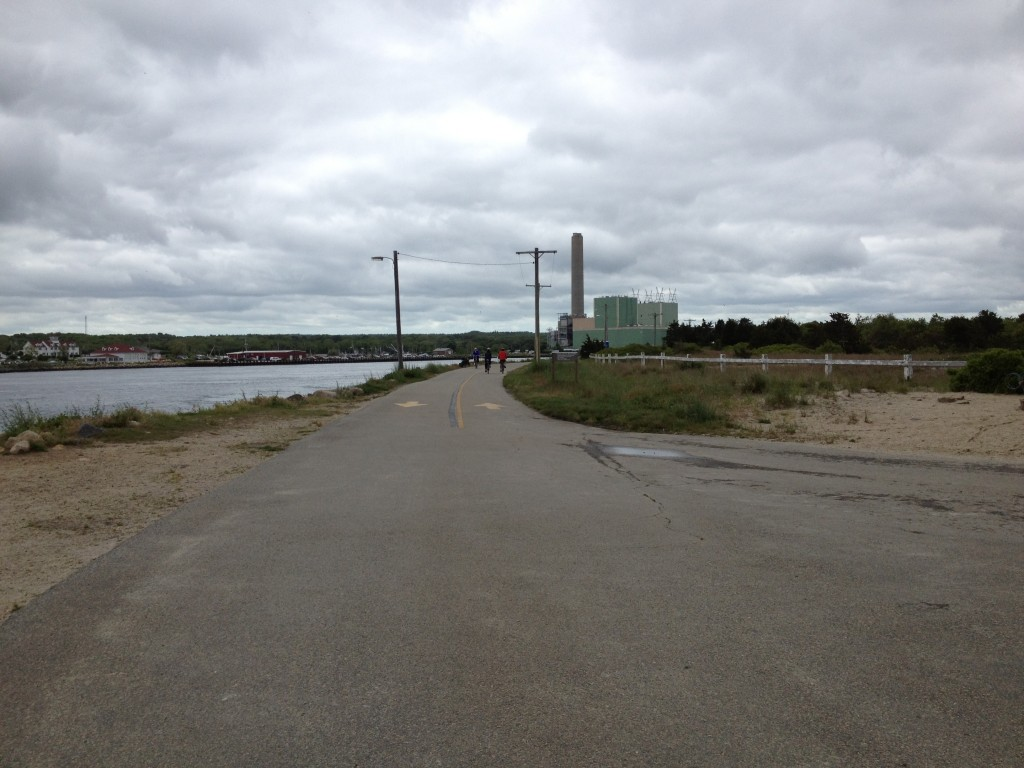 Eastern end of the mainland Cape Cod Canal Rail Trail.