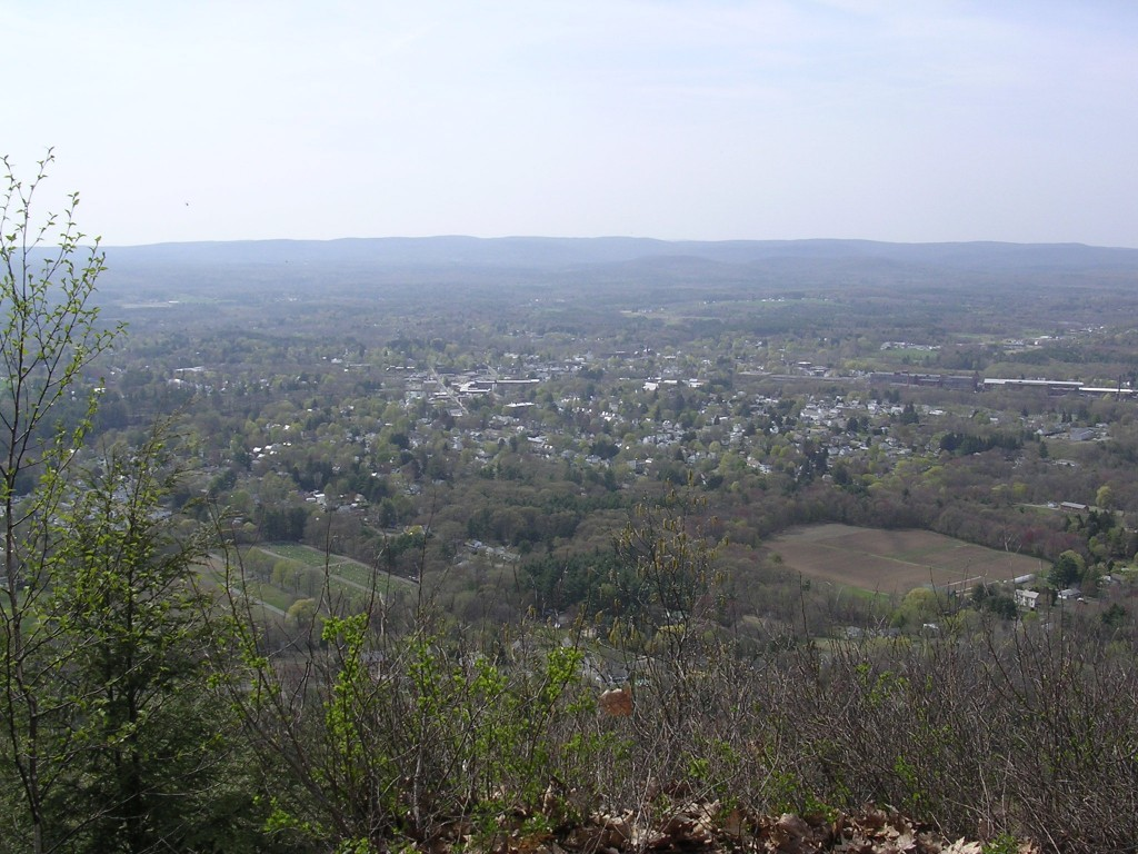 View from Metacomet-Monadnock Trail on Mt. Tom