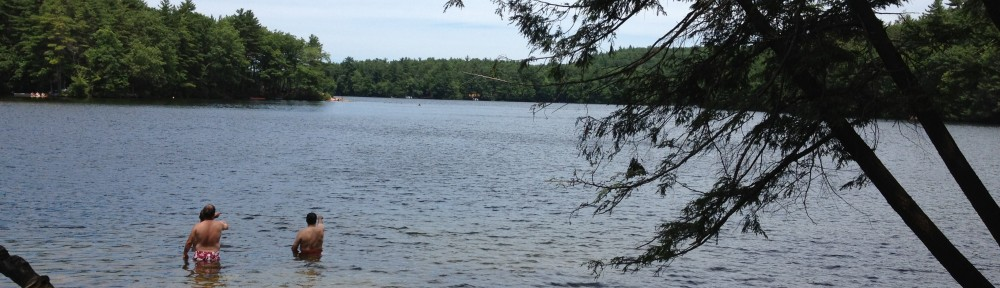 Panoramic View of Mashapaug Lake from the picnic area at Bigelow Hollow State Park