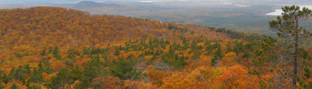 View from Pleasant Mountain in Bridgton, ME