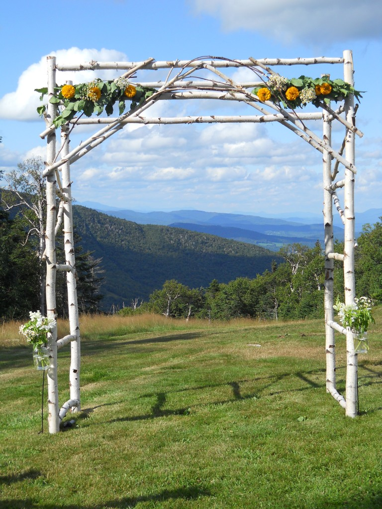 Sugarbush mid-mountain wedding.