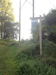 Trail Entrance sign at the Charles River Peninsula.