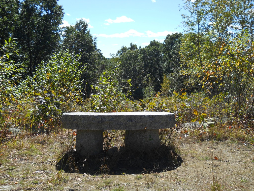 Bench at the top of Round Hill