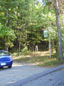 Pegan Hill Parking Area and Trailhead.