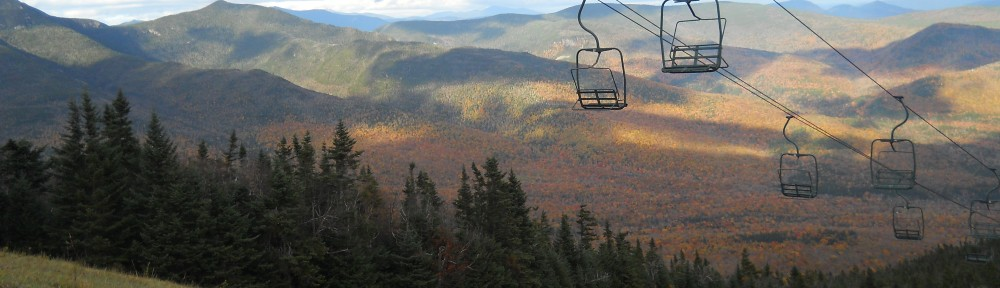 Fall view of Waterville Valley from Ski Resort.