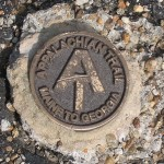 Appalachian Trail marker on Mt. Greylock.
