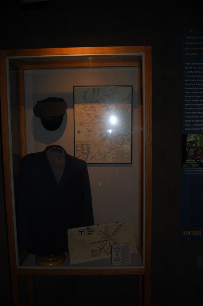 Vintage Boston MBTA Uniform and old route map.