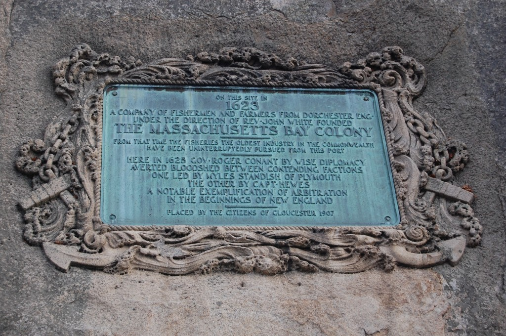 Commemorative Plaque in Stage Fort Park Gloucester