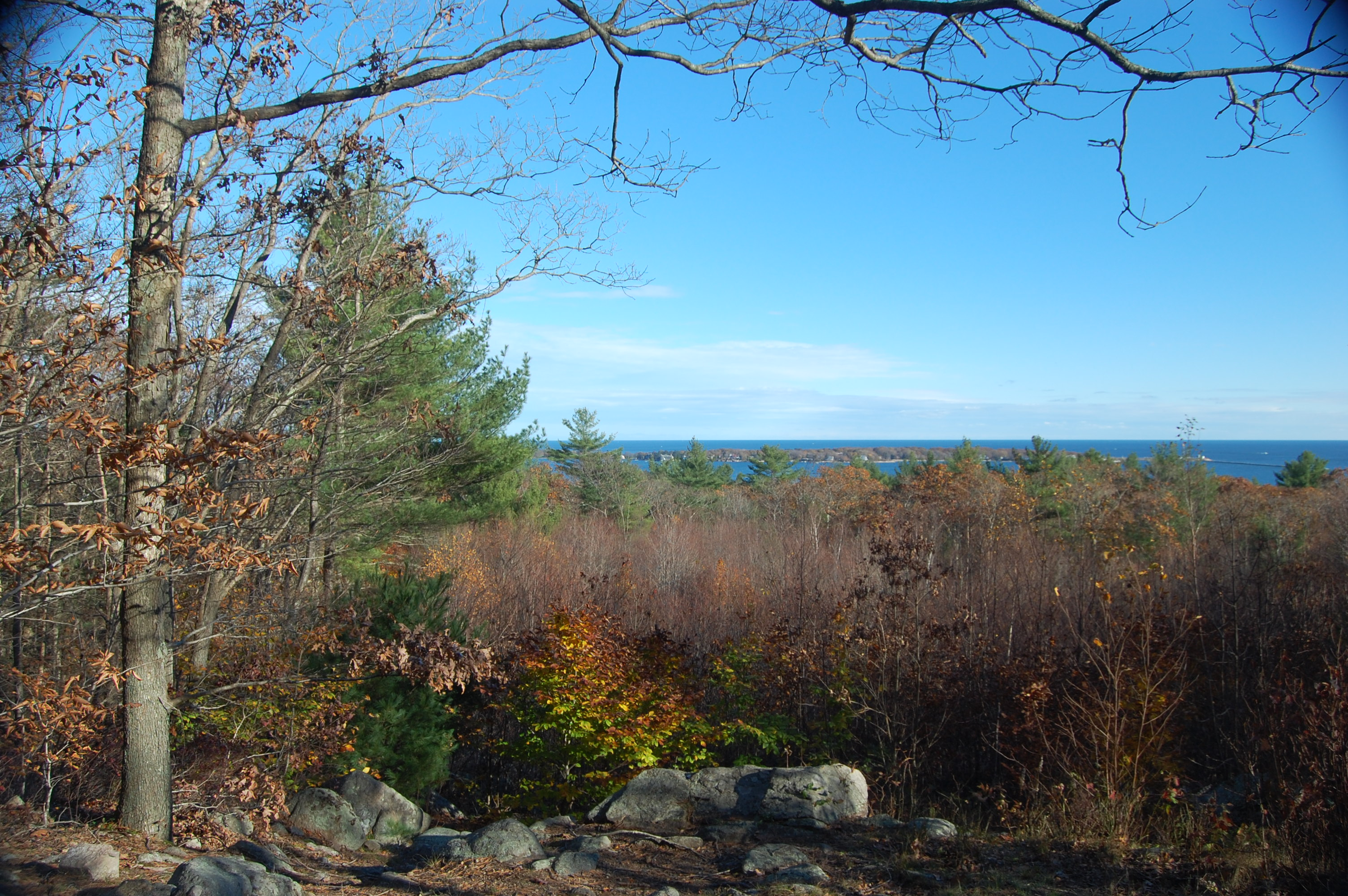 Ravenswood Park scenic overlook in Gloucester, MA
