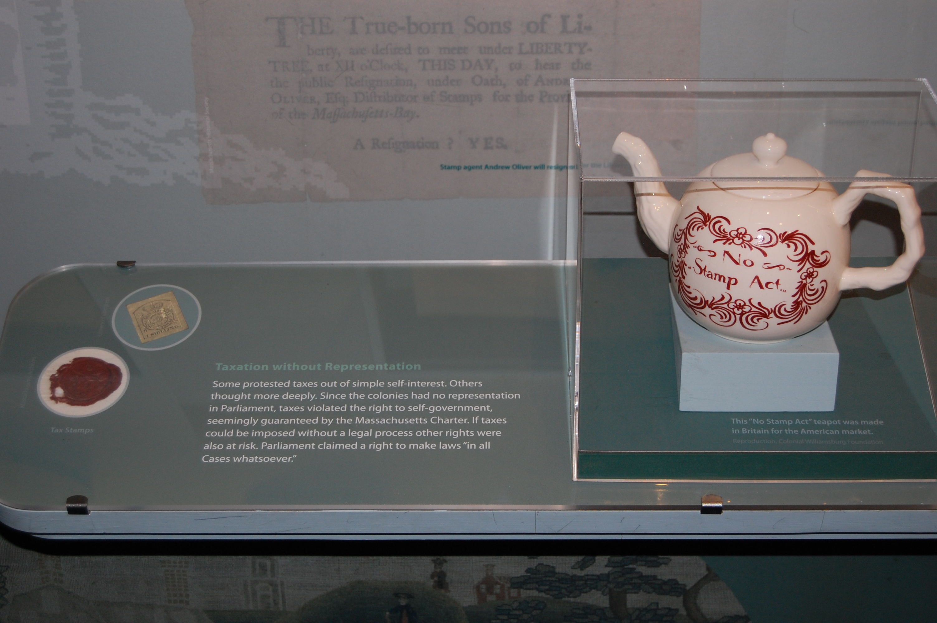 'No Stamp Tax' Teapot at The Commonwealth Museum