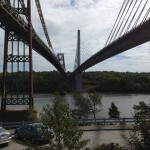 Two bridge view from the base of the Penobscot Narrows Observatory