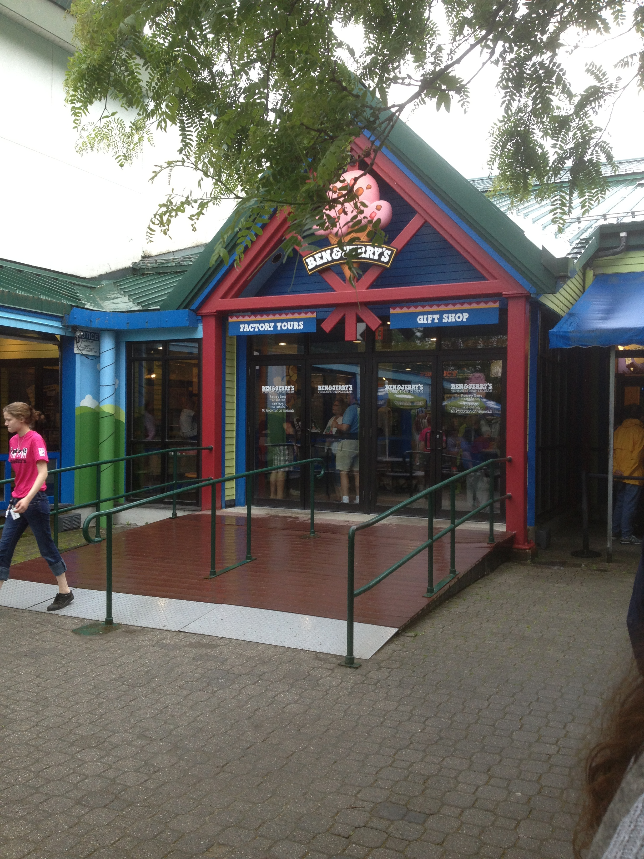 Ben & Jerry's Tour and Gift Shop entrance.
