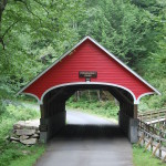 Covered bridge over the Pemigewasett River in Franconia Notch State Park