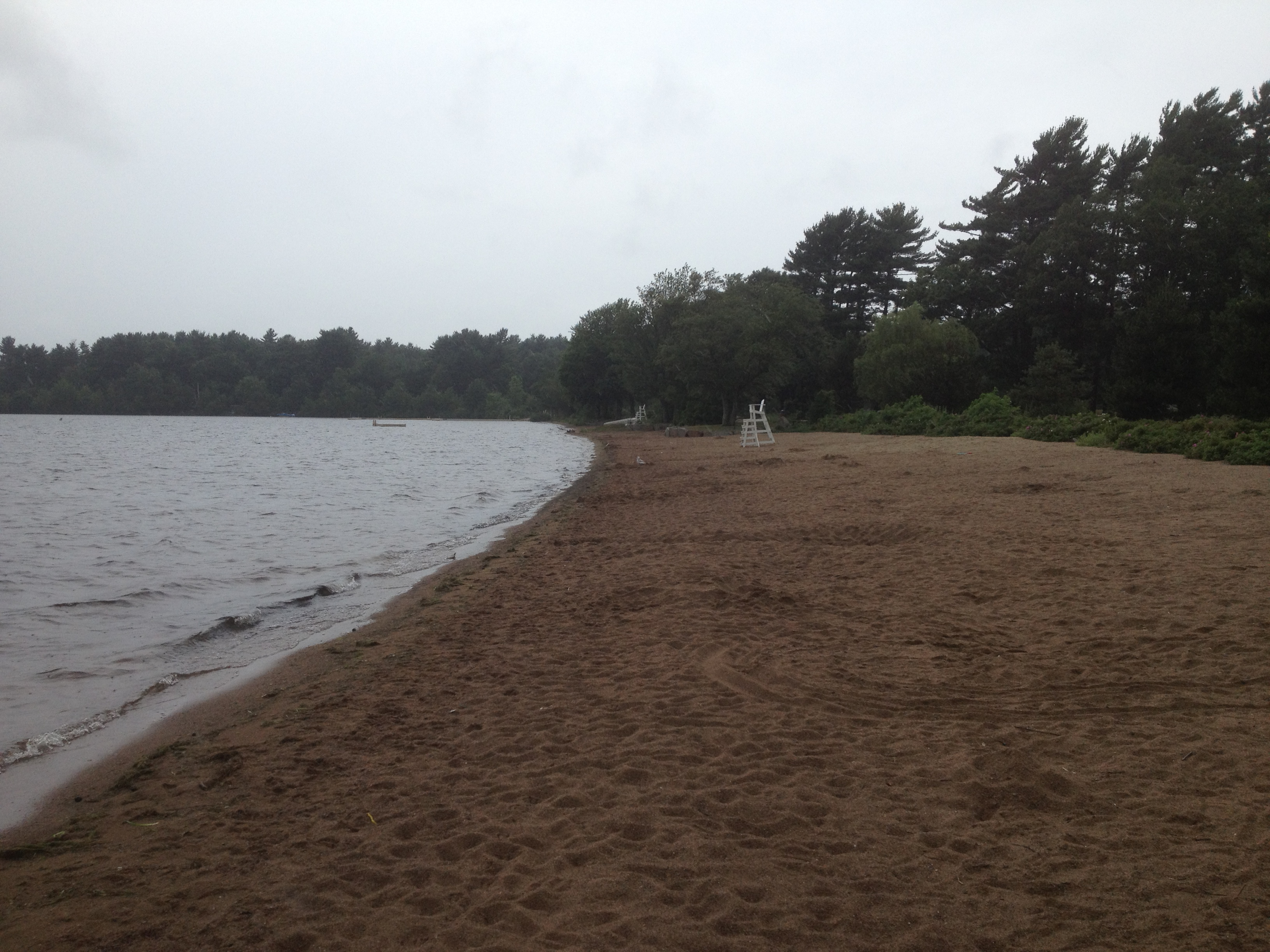 Memorial Beach on Mashapoag Lake