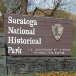 Entrance sign to Saratoga NHS off US Rte 4.