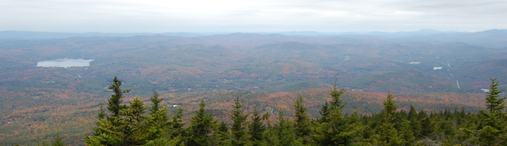 View from the summit of Mt. Kearsarge with the lovely fall colors of New Hampshire.