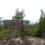 Trail sign at summit of Mt. Kearsarge.