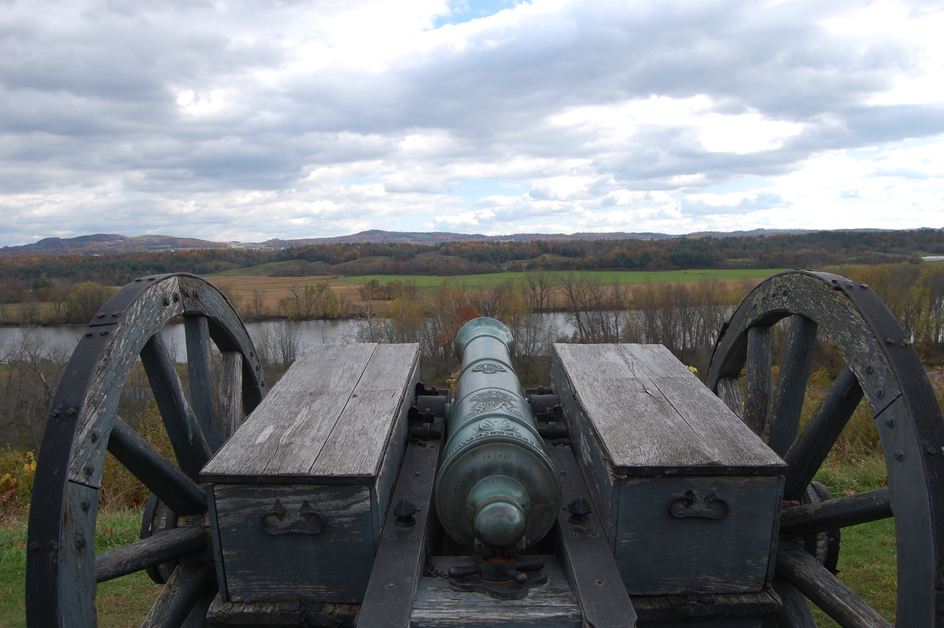 View from the American Fortifications overlooking the Hudson River.