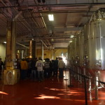 Tour Group in the Sam Adams Brewery.