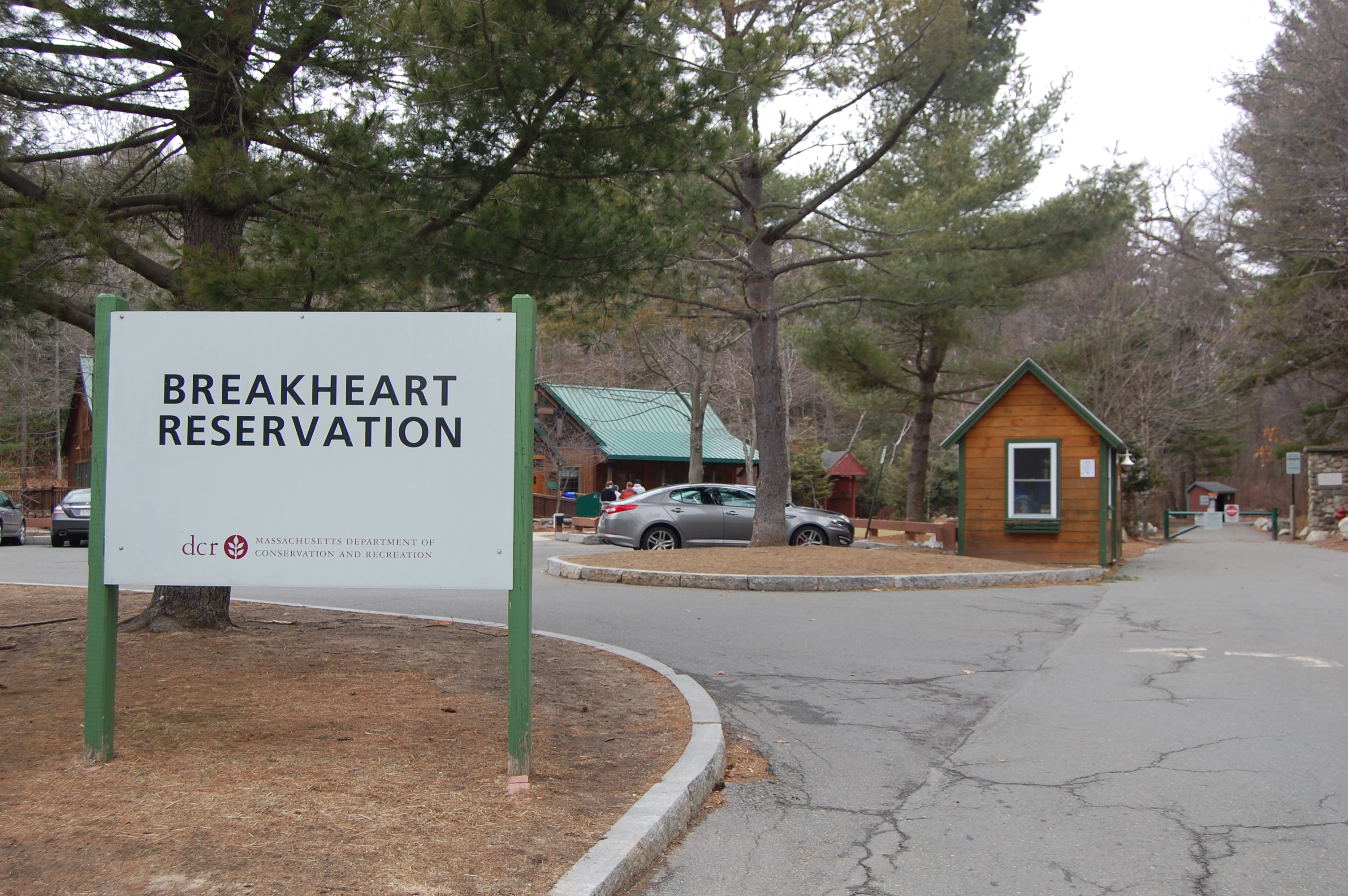 Breakheart Reservation entrance and visitor center.