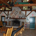 Interior of the Christoper P. Dunne visitor center at Breakheart Reservatin.