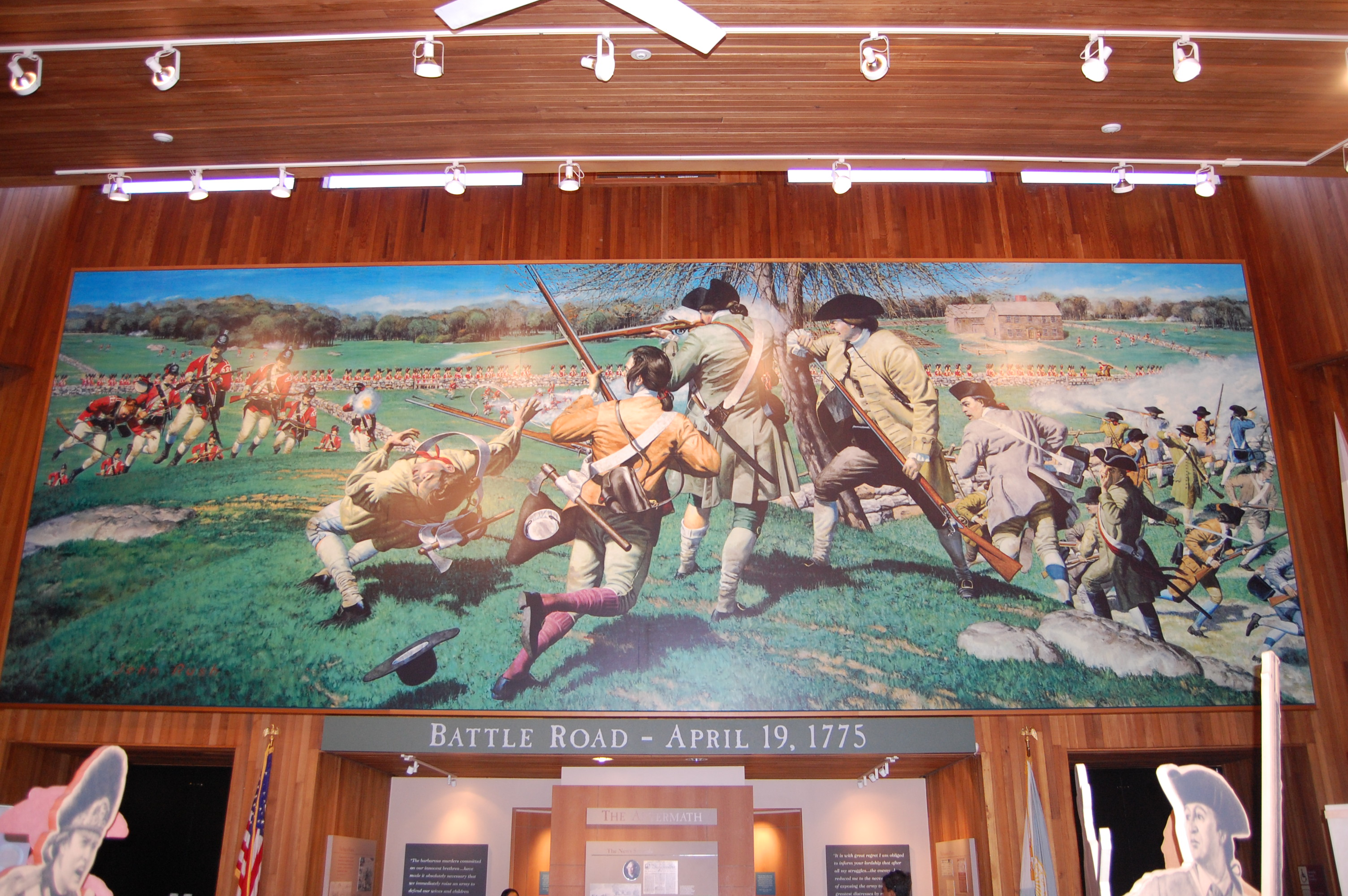 Panoramic Painting in the visitor center.
