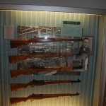 Display Case showing the iconic M1 Garand Assault Rifle.