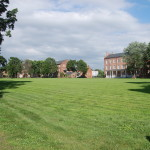 View of the historic grounds of the Springfield Armory - now Springfield Technical Community College.