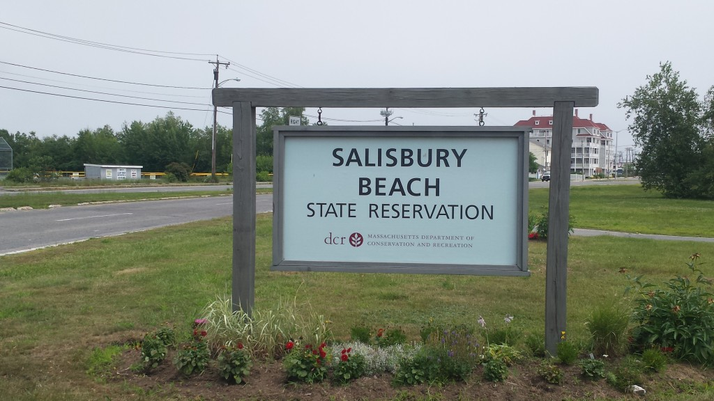 This sign marks the entrance to Salisbury Beach.