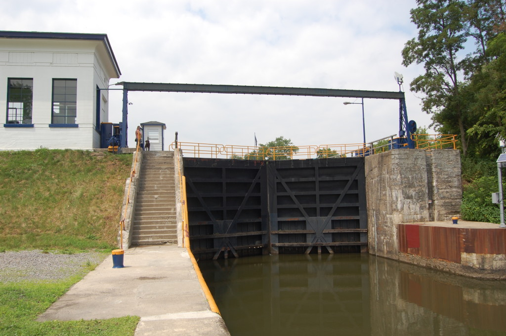 This is one end of lock 16 on the Erie Canal in Mindenville, NY.